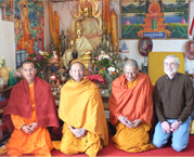 Bill with the Monks