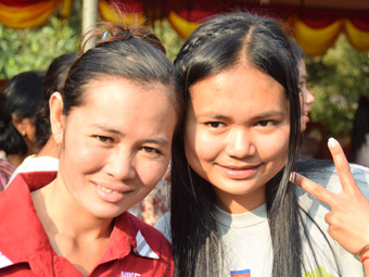 Samy with her Mother