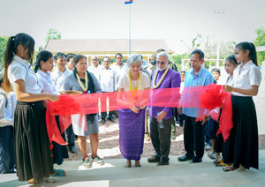 Ribbon cutting for Syed Balkhi Center of Learning