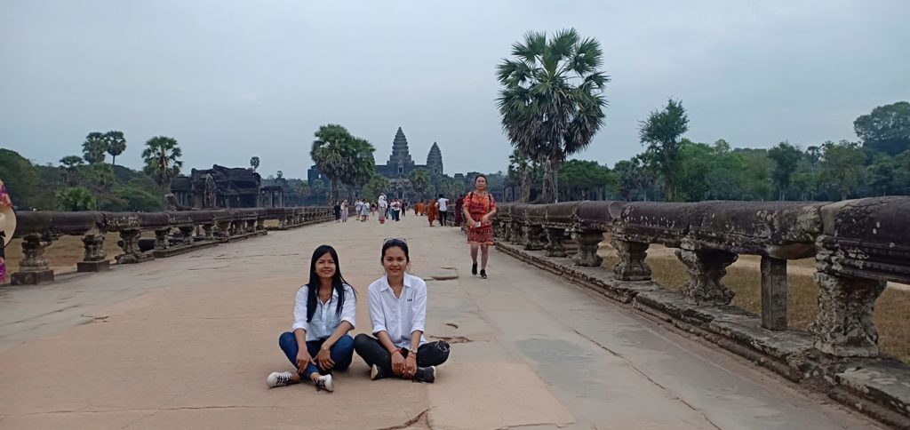 Vanna and Samey at Angkor Wat